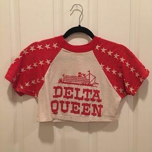 """Delta Queen"" Vintage Crop Top"